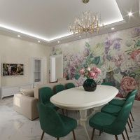 A living room design with frescoes